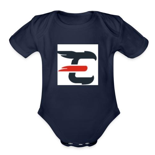 exxendynce logo - Organic Short Sleeve Baby Bodysuit