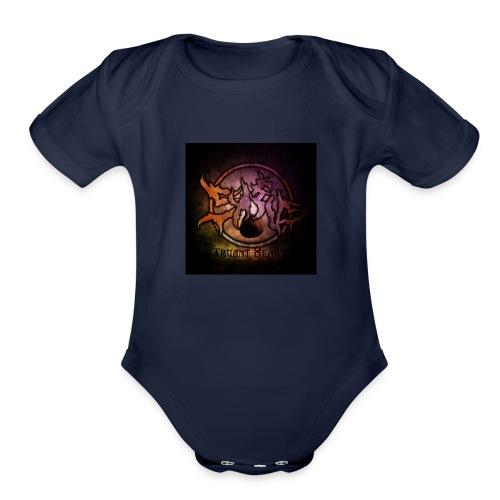Sykeus Truant Heart - Organic Short Sleeve Baby Bodysuit