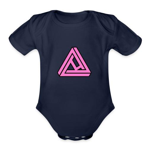 Breast Cancer Awareness Logo - Organic Short Sleeve Baby Bodysuit