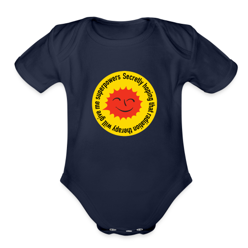 Radiation Superpowers - Organic Short Sleeve Baby Bodysuit