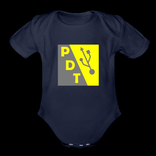 PDT Logo - Organic Short Sleeve Baby Bodysuit
