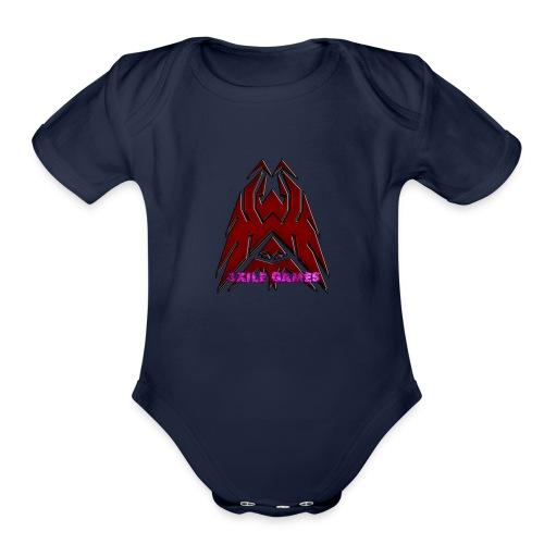 3XILE Games Logo - Organic Short Sleeve Baby Bodysuit