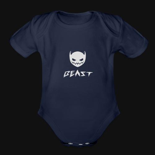 Beast by GlitchKen - Organic Short Sleeve Baby Bodysuit