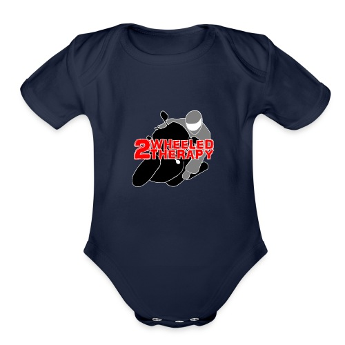 2 Wheeled Thereapy - Organic Short Sleeve Baby Bodysuit
