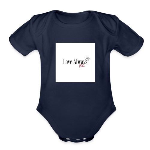 Love Always, Bibi - Organic Short Sleeve Baby Bodysuit