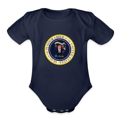 POTUS_Grabber - Organic Short Sleeve Baby Bodysuit