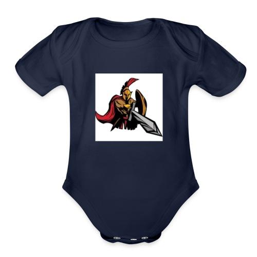 Gladiator - Organic Short Sleeve Baby Bodysuit