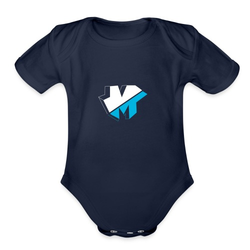 5050logo - Organic Short Sleeve Baby Bodysuit