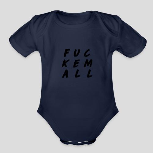 FUCKEMALL Black Logo - Organic Short Sleeve Baby Bodysuit