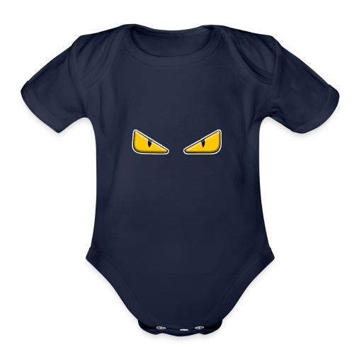 Zaheire x Fendi Monster Eye Design - Organic Short Sleeve Baby Bodysuit