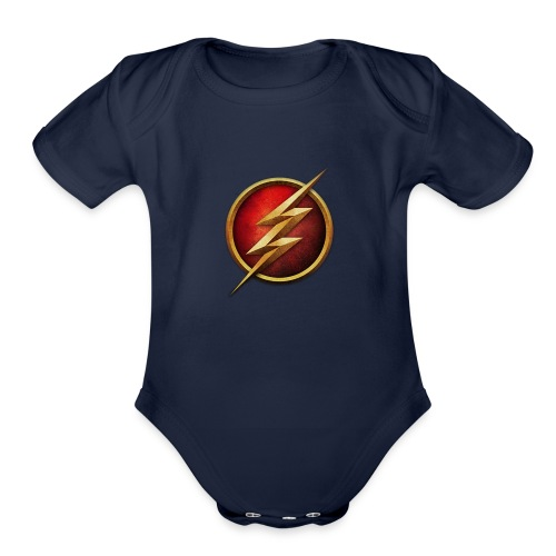 the_flash_logo_by_tremretr-d8uy5gu - Organic Short Sleeve Baby Bodysuit