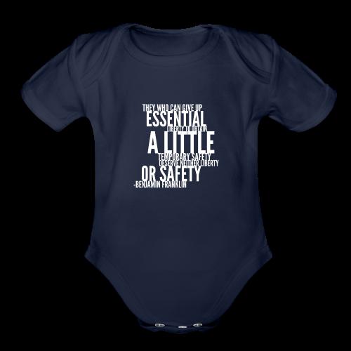 Benjamin Franklin - Organic Short Sleeve Baby Bodysuit