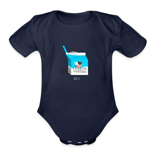 Milk - Organic Short Sleeve Baby Bodysuit