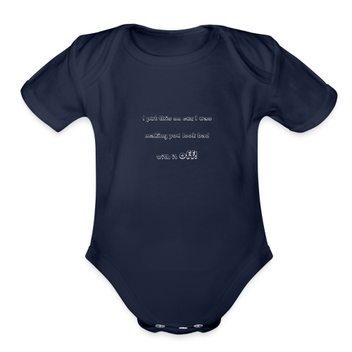 PutthisonWhite - Organic Short Sleeve Baby Bodysuit