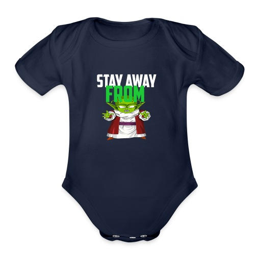 Stay Away From My D! - Organic Short Sleeve Baby Bodysuit