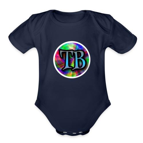 Tricky Bois Logo - Organic Short Sleeve Baby Bodysuit