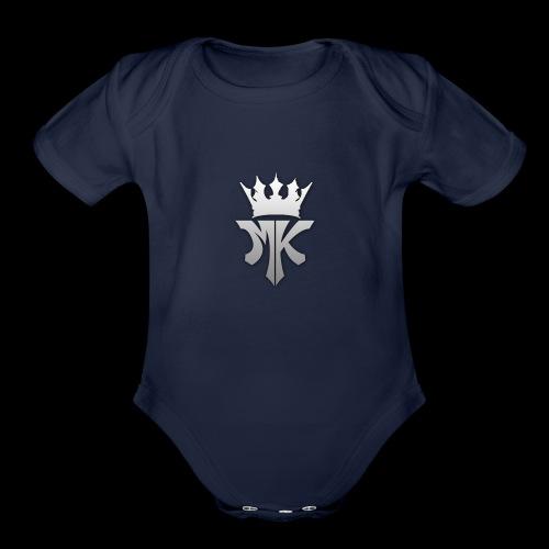 MK orignal logo gray - Organic Short Sleeve Baby Bodysuit