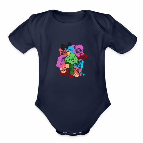 Shroom Trip - Organic Short Sleeve Baby Bodysuit
