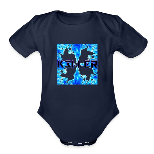 My Main Logo - Organic Short Sleeve Baby Bodysuit