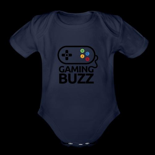 Gaming Buzz Logo - Black - Organic Short Sleeve Baby Bodysuit