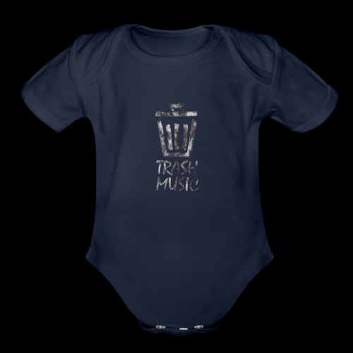 Grey Trash Logo - Organic Short Sleeve Baby Bodysuit