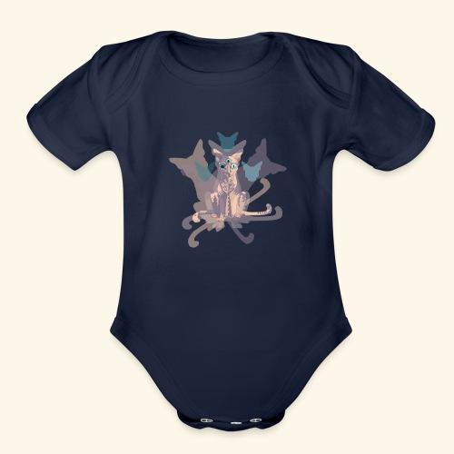 Feline of Obscure Symmetry - Organic Short Sleeve Baby Bodysuit