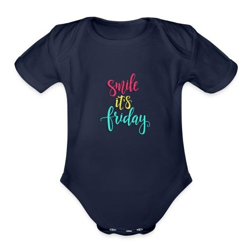 Smile its Friday - Organic Short Sleeve Baby Bodysuit
