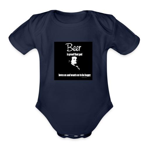 Beer T-shirt - Organic Short Sleeve Baby Bodysuit