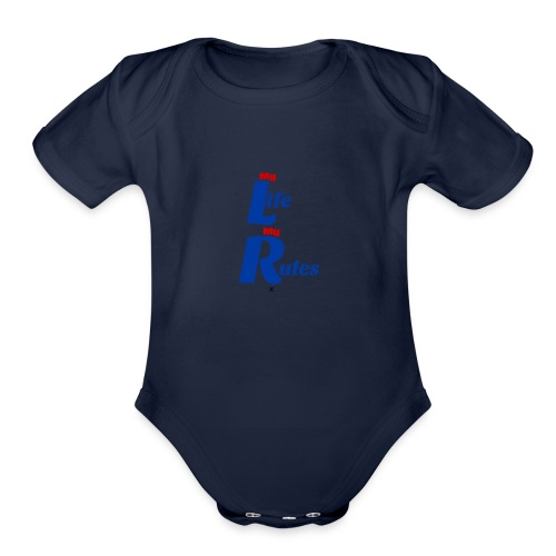 My Life My Rules - Organic Short Sleeve Baby Bodysuit