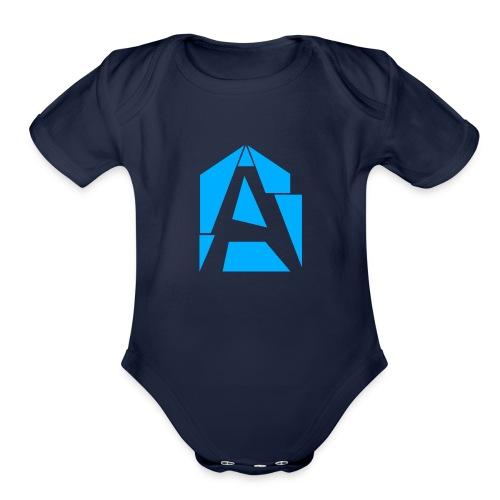 Abstrakt Simplistic - Organic Short Sleeve Baby Bodysuit