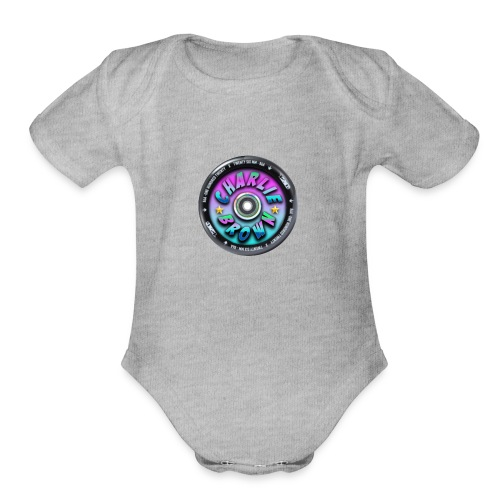 Charlie Brown Logo - Organic Short Sleeve Baby Bodysuit