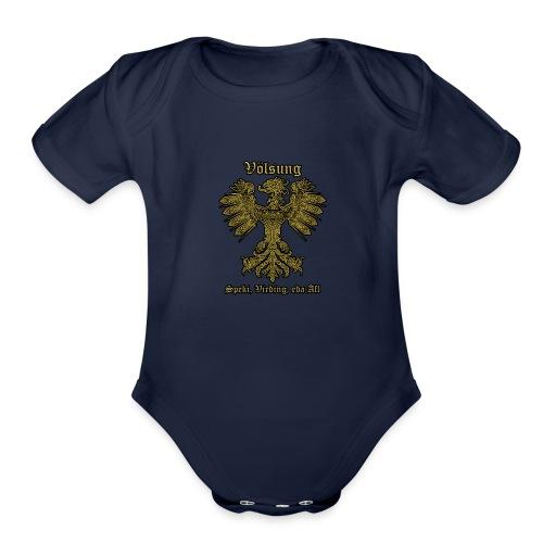 Völsung Eagle cases - Organic Short Sleeve Baby Bodysuit