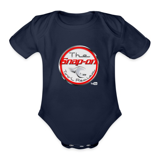 red logo white youtube - Organic Short Sleeve Baby Bodysuit