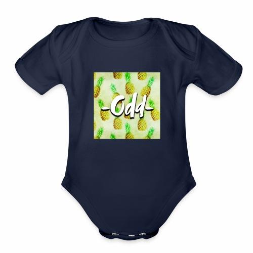 Odd Pineapple - Organic Short Sleeve Baby Bodysuit
