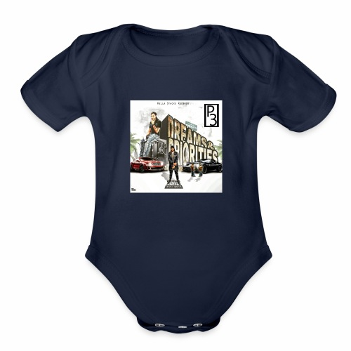 p3 mixtape cover - Organic Short Sleeve Baby Bodysuit