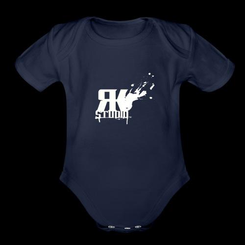 RKStudio White Logo Version - Organic Short Sleeve Baby Bodysuit