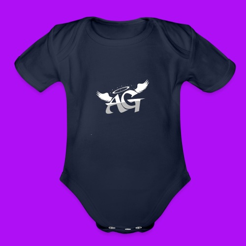 Almighty Gang Logo W/o Text - Organic Short Sleeve Baby Bodysuit