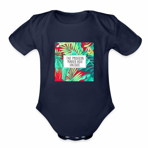Process makes you unique - Organic Short Sleeve Baby Bodysuit