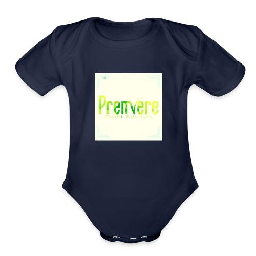4516 Premiere Credit Solutions Logo H 01 - Organic Short Sleeve Baby Bodysuit