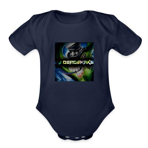 DJDEADSNAKE one of a kind sweatshirt - Organic Short Sleeve Baby Bodysuit