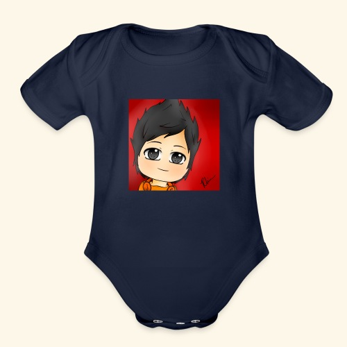 Profile Pic - Organic Short Sleeve Baby Bodysuit