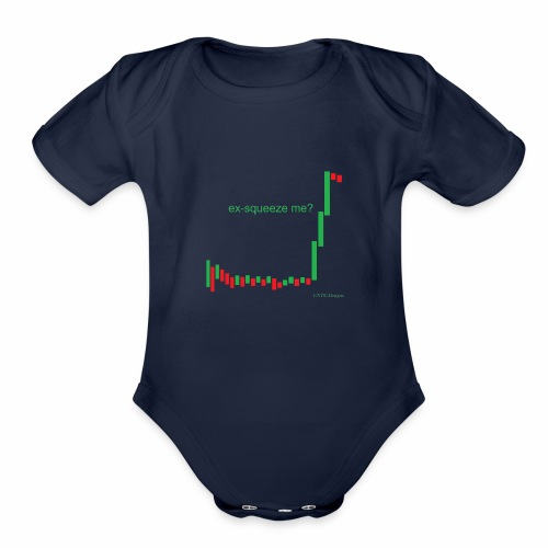 ex-squeeze me? - Organic Short Sleeve Baby Bodysuit