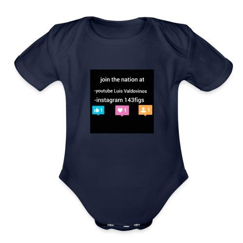 first shirt - Organic Short Sleeve Baby Bodysuit