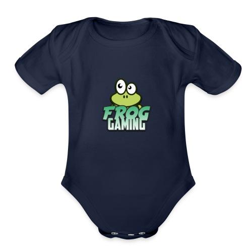 Frog Gaming Logo Transparent - Organic Short Sleeve Baby Bodysuit