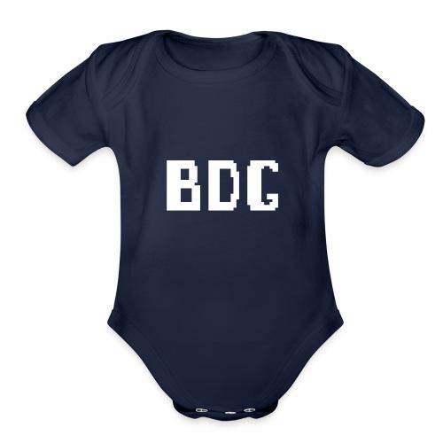BDG 8-Bit Design White - Organic Short Sleeve Baby Bodysuit