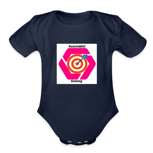 YouTubeLogo - Organic Short Sleeve Baby Bodysuit