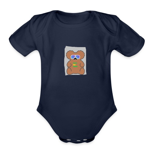 Aussie Dad Gaming Koala - Organic Short Sleeve Baby Bodysuit