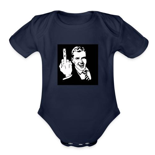 fuck yeah - Organic Short Sleeve Baby Bodysuit