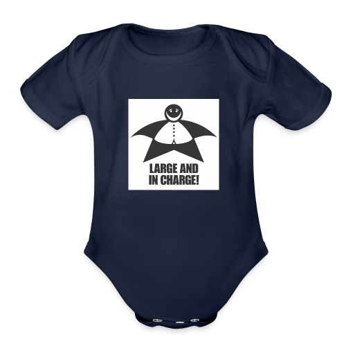 Large and in Charge - Organic Short Sleeve Baby Bodysuit