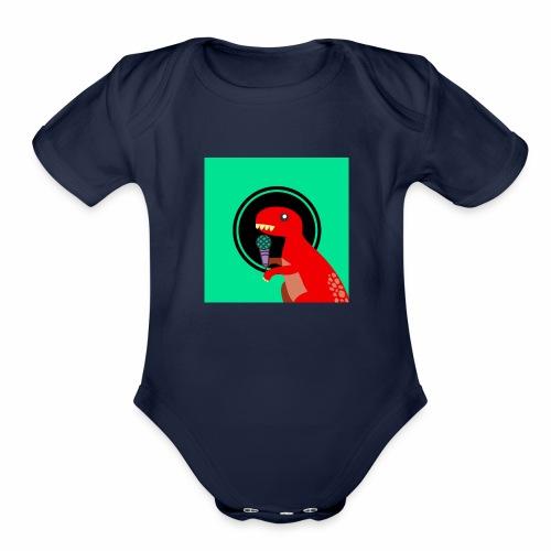 YouTube Logo 1 Merch! - Organic Short Sleeve Baby Bodysuit